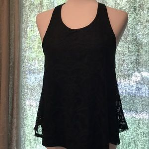 NWT Francesca's Miami Black Lace Top. Small.